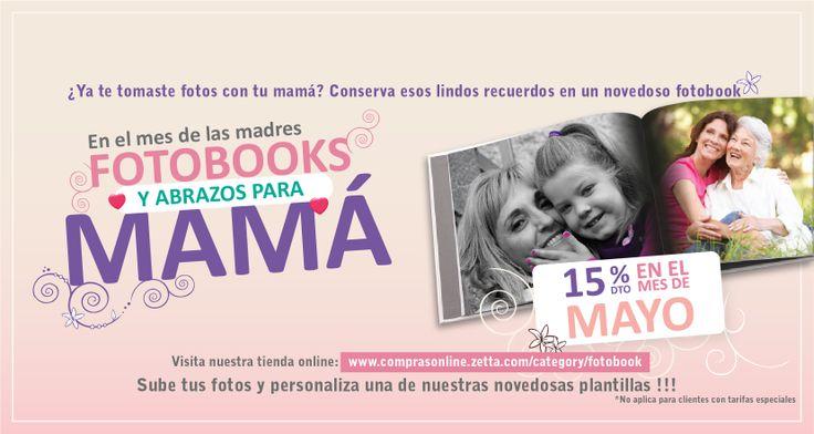 Hasta el 30 de Mayo de  2014.  15%  de descuento en Fotobooks, No aplica para clientes con tarifa especial: http://comprasonline.zetta.com/category/fotobook