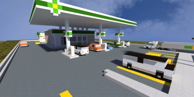 This is a realistic recreation of a BP petrol (gas) station. This build is based on an real life pe