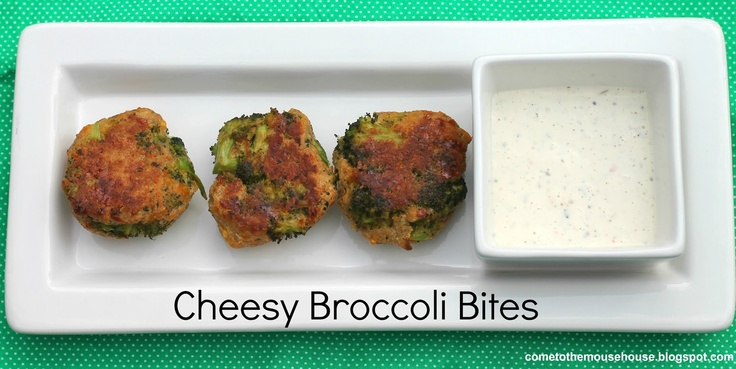 Welcome to the Mouse House: Cheesy Broccoli Bites: Recipe