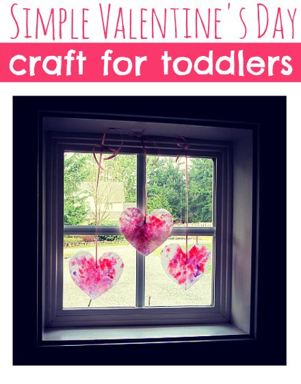 Simple Heart Craft for Toddlers - Pinned by @PediaStaff – Please Visit ht.ly/63sNtfor all our pediatric therapy pins