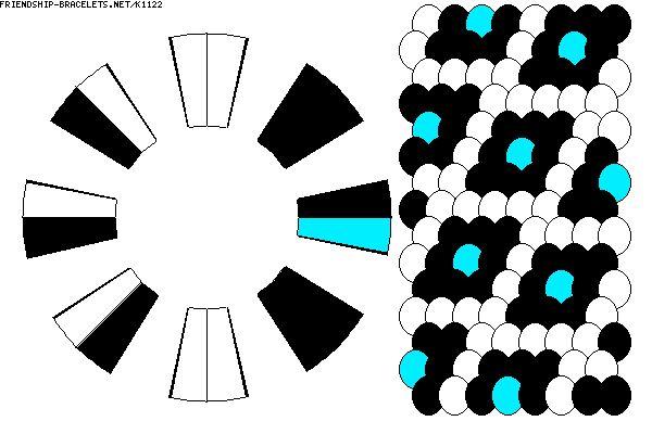 K1122 - friendship-bracelets.net Strings: 16 Colors: 3