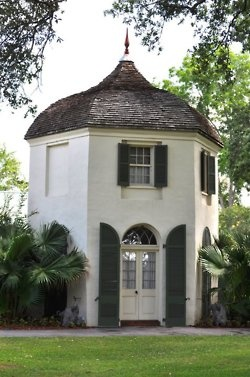 The Garconiare at Houmas House Plantation in Lousiana, otherwise known as a bachelor house. These were customary on some larger plantations, once the sons reached their teens they would find themselves in the garconiare.