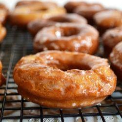 Pumpkin Donuts with Spiced Buttermilk Glaze | My