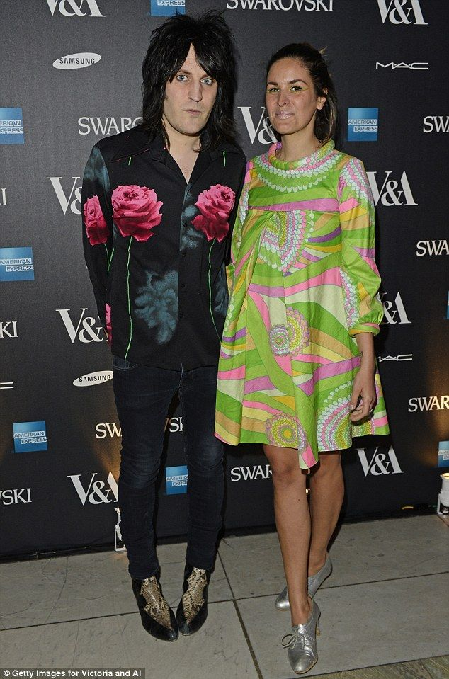 Quirky: Noel Fielding (L) and Lliana Bird arrive at the Alexander McQueen: Savage Beauty ...