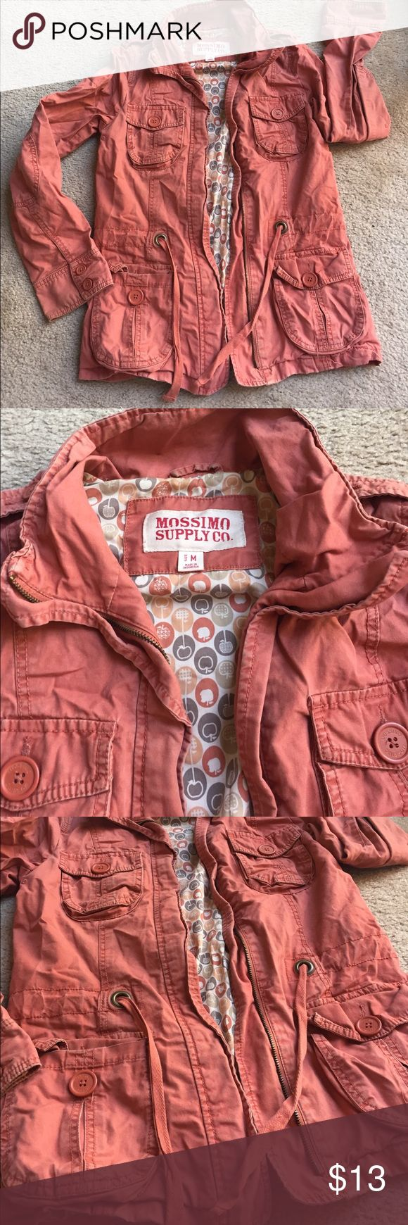 Mossimo Peach Orange Zip Up Jacket No stains no holes Jackets & Coats