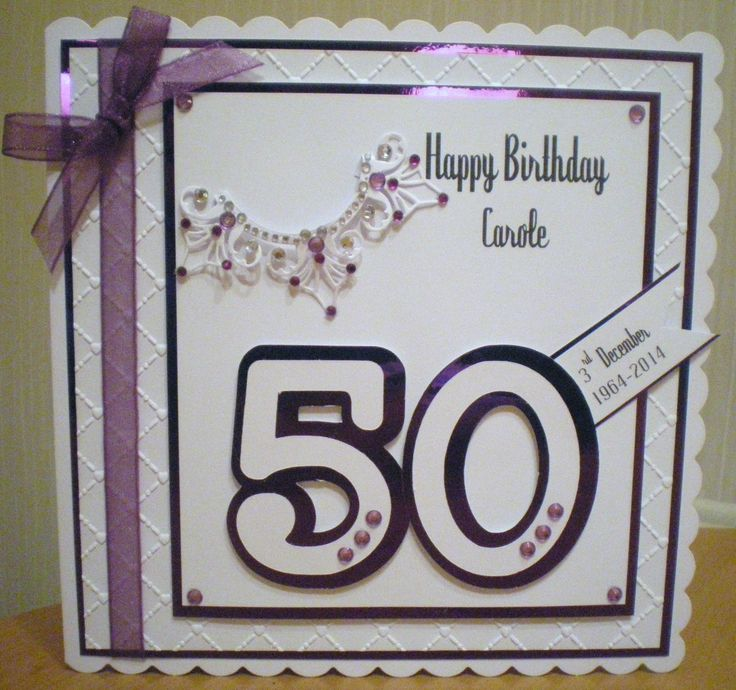 Card Making Ideas 50th Birthday Part - 18: Birthday Made Using Spellbinders Die And Cricut Numbers. Find This Pin And  More On 50th Birthday Cards ...