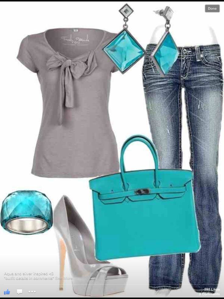 Casual look with color