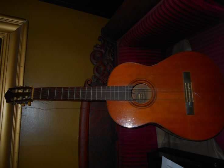 Nice 1969 Yamaha acoustic guitar found in our last locker.