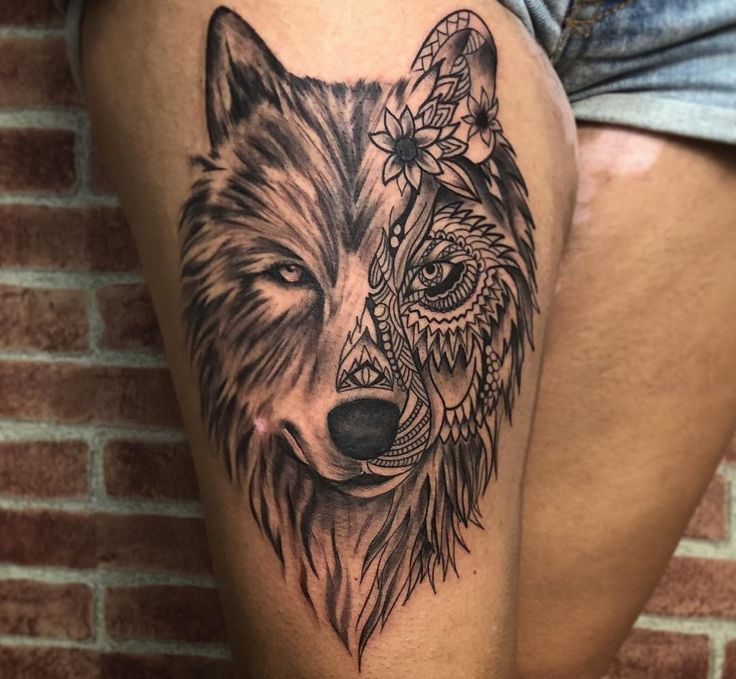 Tatuagem de lobo: significado e as 75 ideias mais lindas do Instagram | Lobo tatuagem, Tatuagem