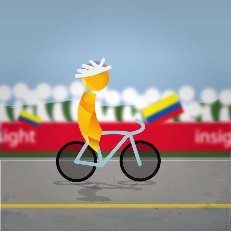 El #SueñoAmarillo sigue pedaleando :D ¡Vamos Nairo!  http://ow.ly/Q3lOP