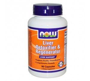 NOW - Liver Detoxifier & Regenerator - 90 Капсули | В подкрепа на черния дроб и детоксикация | MaxLife