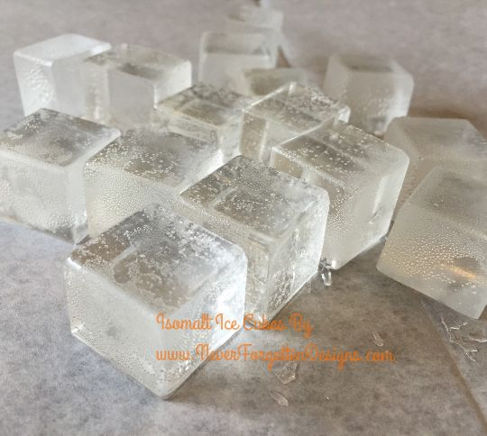 "Sugar Isomalt Ice Cubes for Beer Cakes and Much More! Flavored with vanilla for a sweet treat to be talked about and enjoyed! Each ice cube is 1"" x 1"" and sold by the dozen. #beercake"