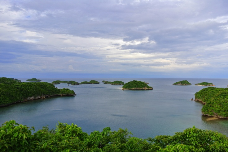 View from the top of Governor's Island, Hundred Islands National Park