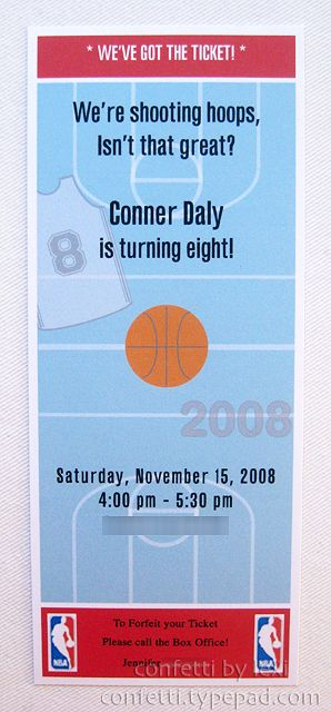 basketball ticket invite