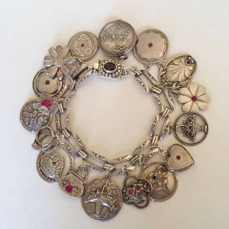 eCharmony Charm Bracelet Collection - My Art Deco Art Nouveau Charm Bracelet