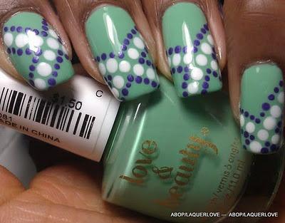 Love & Beauty - Mint: Dots Frenzi, Beautiful Nails, Funky Nails, Dots Tools, Nails Ideas, Blue White, Nails Art Design, Diy Nails, Nails Designs