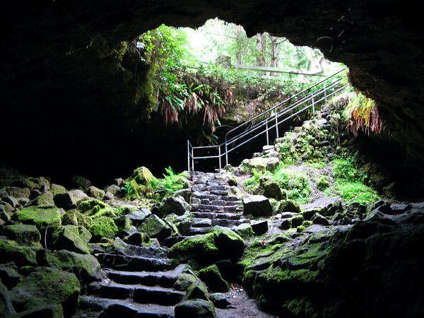 Ape Cave Lava Tube. Mt. St. Helens, Washington.