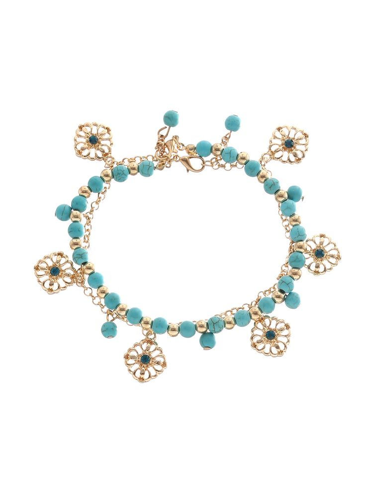 Shop Gold-tone Turquoise Tassel Boho Anklet online. SheIn offers Gold-tone Turquoise Tassel Boho Anklet & more to fit your fashionable needs. #Jewelry #fashion #style #women