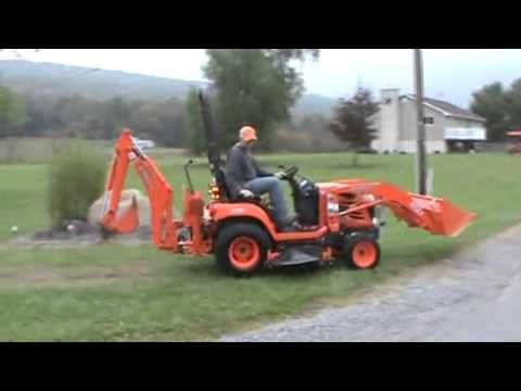 2007 Kubota BX24 Sub Compact Tractor Loader Backhoe Mower For Sale - YouTube
