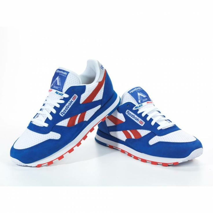 reebok classic white red blue - 64% OFF