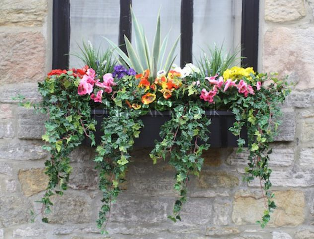 Outdoor Window Planters For More Artificial Bo Flowers Pinterest Plants And Box