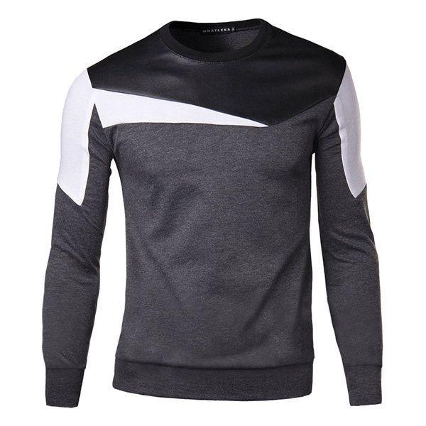 Camiseta ocasional del suéter del O-cuello de la manera del suéter del Mens Camiseta suéter delgada del ajuste del O-cuello de la manera del suéter del Mens