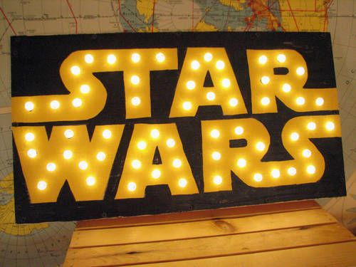 Star Wars light up sign - HOME SWEET HOME Craftster Best of 2014 Winning Project