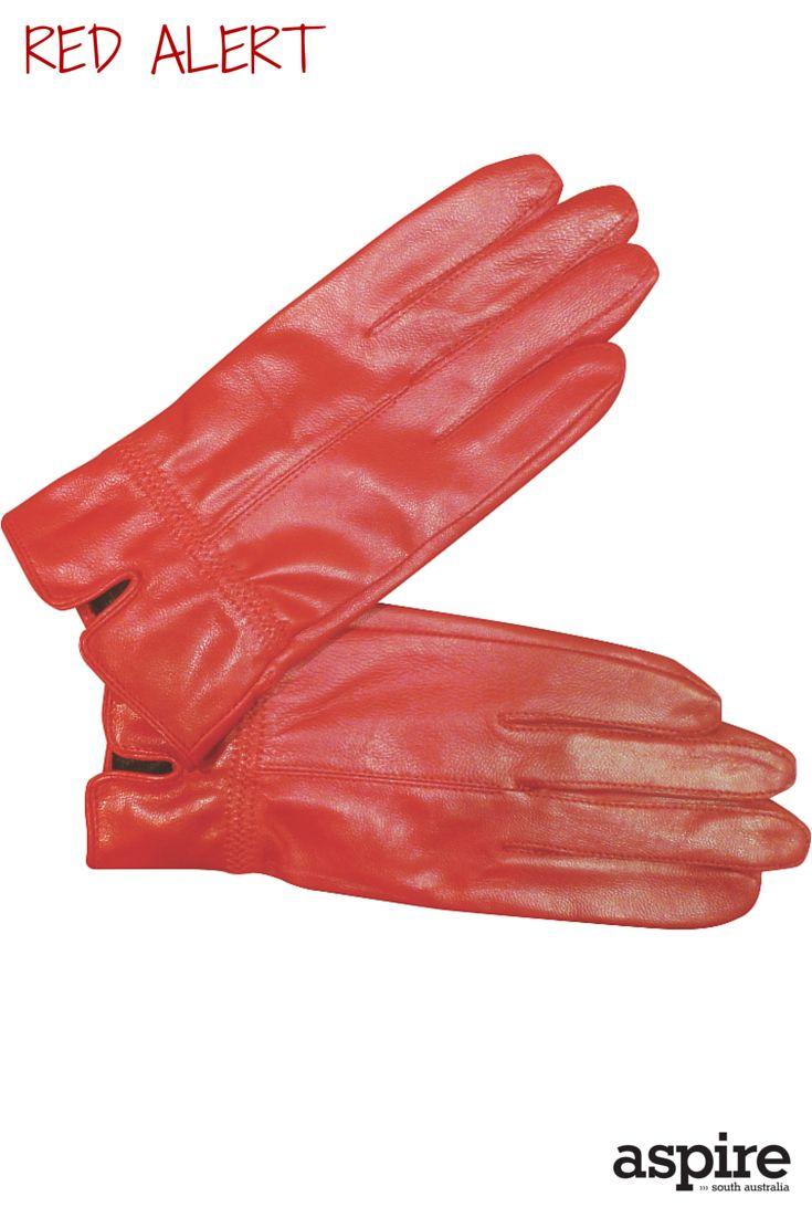 Leather gloves $39 from Bauhaus https://www.facebook.com/Bauhausrundlestreet  #Red #Gloves #Shopping #Adelaide #SouthAustralia