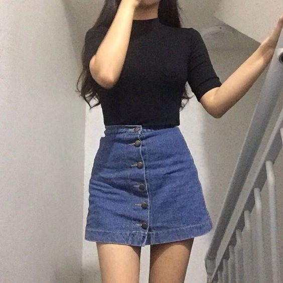Top 25  best Denim skirts ideas on Pinterest | Denim skirt, Denim ...