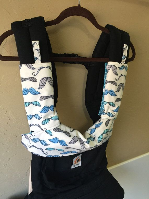 Ergo 360 Strap Covers and Bib Set Reversible Blue by SewSugarPie