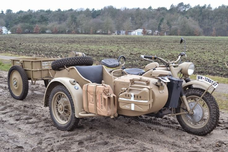 1943 bmw motorcycles sidecar combo - bmw r75, r75, ww2 motorcycle