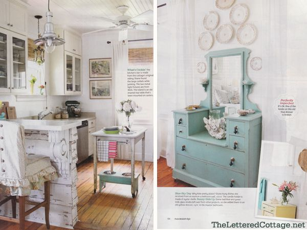 Be sure to pick up the latest issue of Flea Market Style!  It features Kevin & Layla or The Lettered Cottage & our Mermaid Manor Cottage!: Fleas, Fleamarketstyle, Dresser, Lettered Cottage, Flea Markets, Styles, Cottages, Flea Market Style