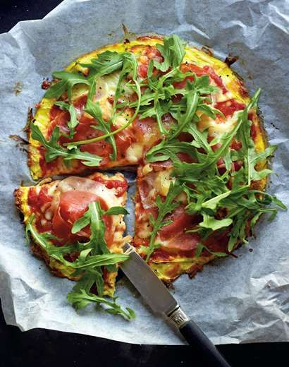 Pizza recipe by Jane Kennedy from the book OMG! I Can Eat That? | Cooked