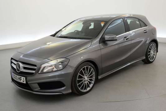 Used 2013 (13 reg) Grey Mercedes-Benz A Class A200 CDI BlueEFFICIENCY AMG Sport 5dr Auto - HALF LEATHER - BLUETOOTH for sale on RAC Cars