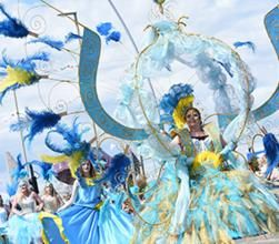 Carnival themed act to hire for parades and carnivals in London and the UK