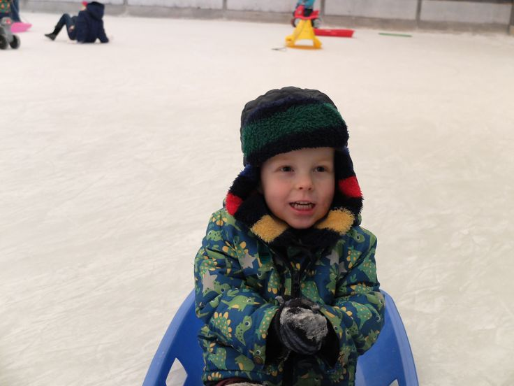 Toddler ice skating session at the Eden Project