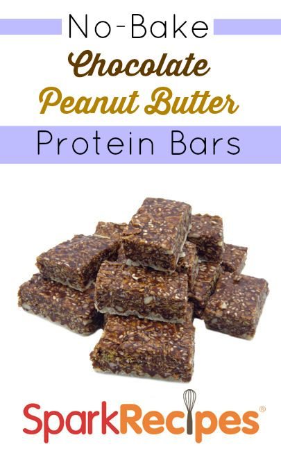 These grab-and-go bars could not be simpler to make! At over 15 grams of protein per bar, they would make a great breakfast or post-workout snack.