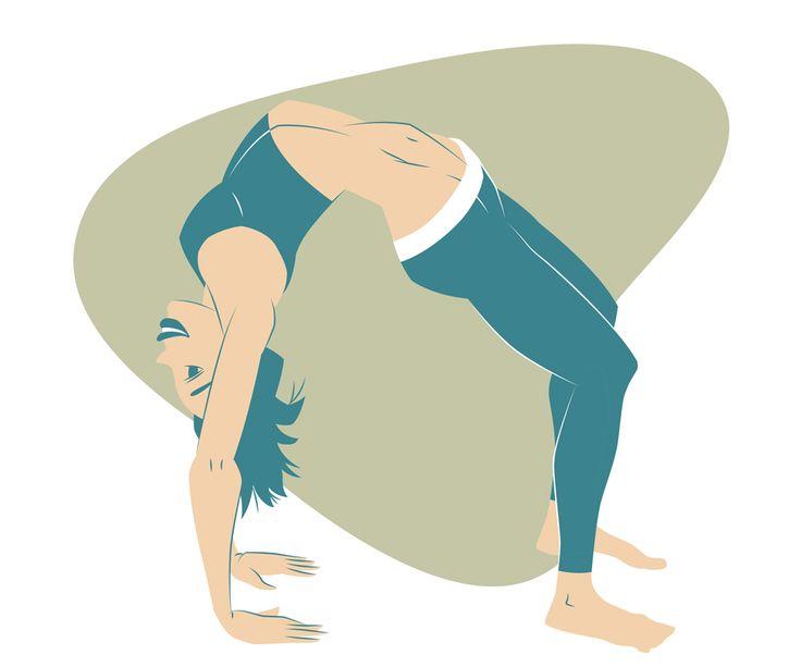 Yoga Project. Chakrasana, Urdva Dhanurasana, Upward-Facing Bow Pose