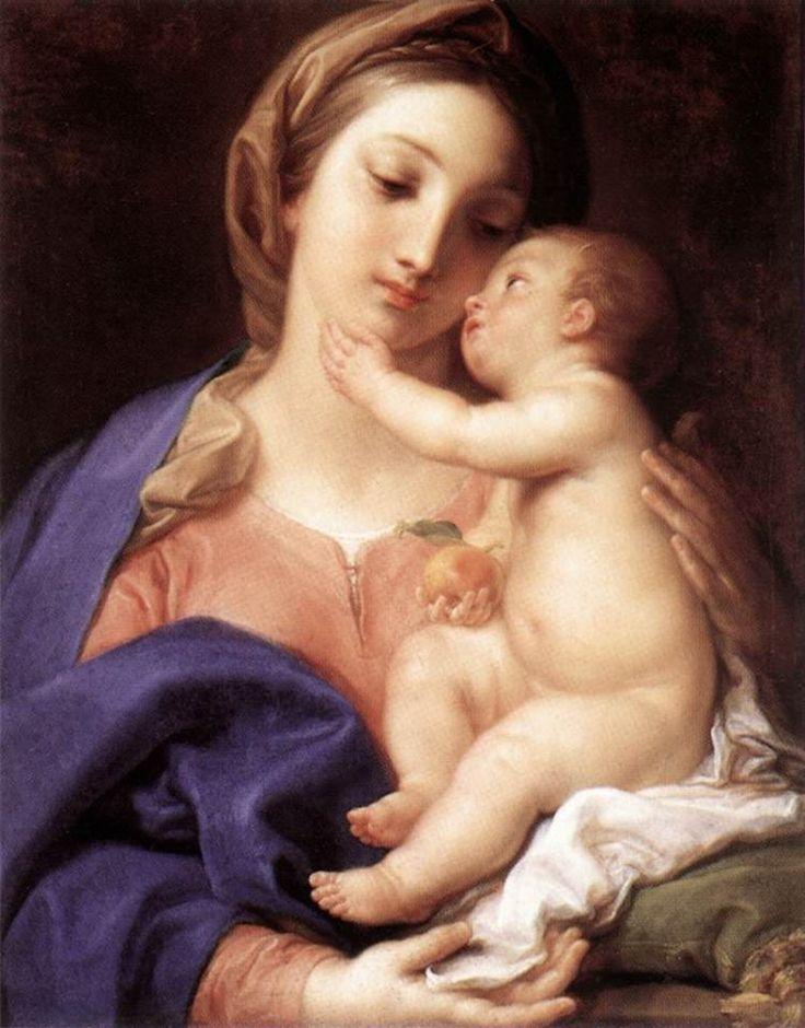 Madonna col Bambino, opera di Pompeo Batoni conservata a Roma alla Galleria Borghese