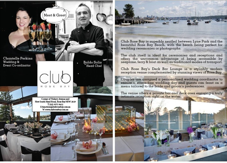 """""""Meet & Greet"""" with Club Rose Bay's Event Team in Wedding Style Guide ~ Summer 2013  12.12.12"""