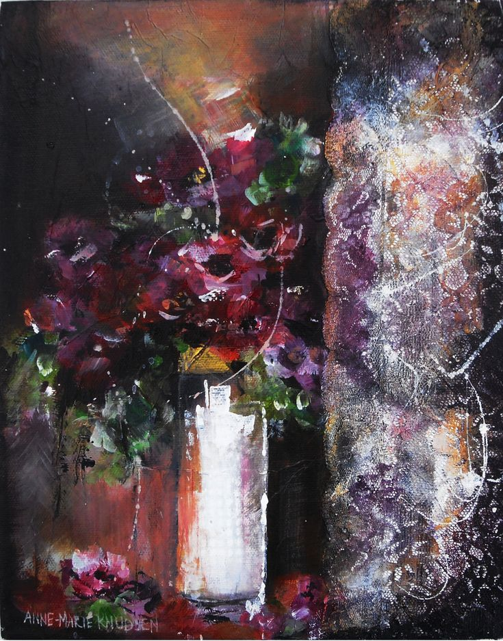 Anemoner – Acrylic on canvas Original 24x30 cm http://www.artofanne-marie.com/florals/
