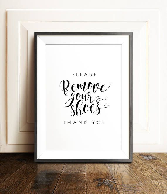 Shoes off sign Remove your shoes sign PRINTABLE art Shoes