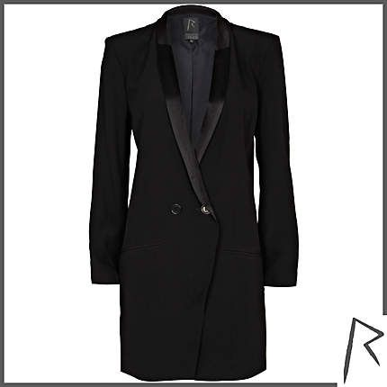 #RihannaforRiverIsland Black Rihanna tuxedo dress. #RIHpintowin click here for more details >  http://www.pinterest.com/pin/115334440431063974/