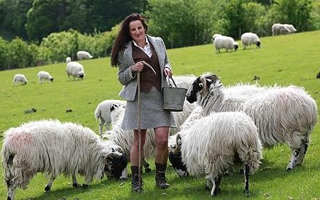 Shepherdess: Alison O'Neill with her herd of Herdwick sheep, shares her passion for farm life with a b&b where visitors can stay overnight in a cosy tree house