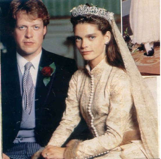 Charles Spencer, 9th Earl Spencer (Brother of Princess Diana) and Victoria Lockwood wedding on 16 September 1989