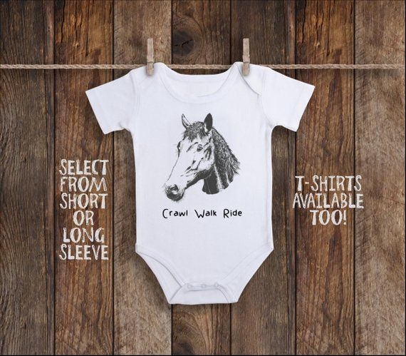 """NEW Farm Girl Brand Baby one piece /""""I Drool Over Horses/'/' Horse size Newborn"""