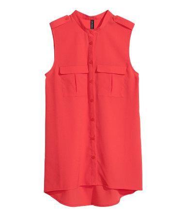 Блузка без рукавов из шифона