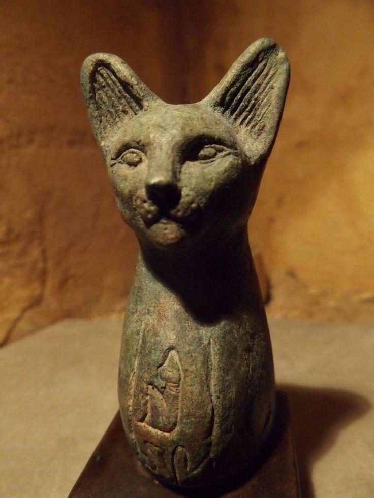 egyptian cat statue of bast bastet a goddess of music