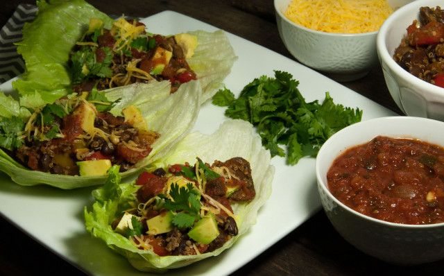 Taco Vegetarian Lettuce Wraps - Feasting not Fasting