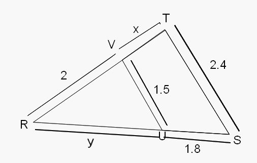 Thales theorem - Théorème de Thalès- Teorema de Thales: Calculer x - Calcular x